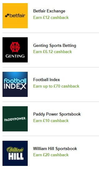 bookmakers cashback