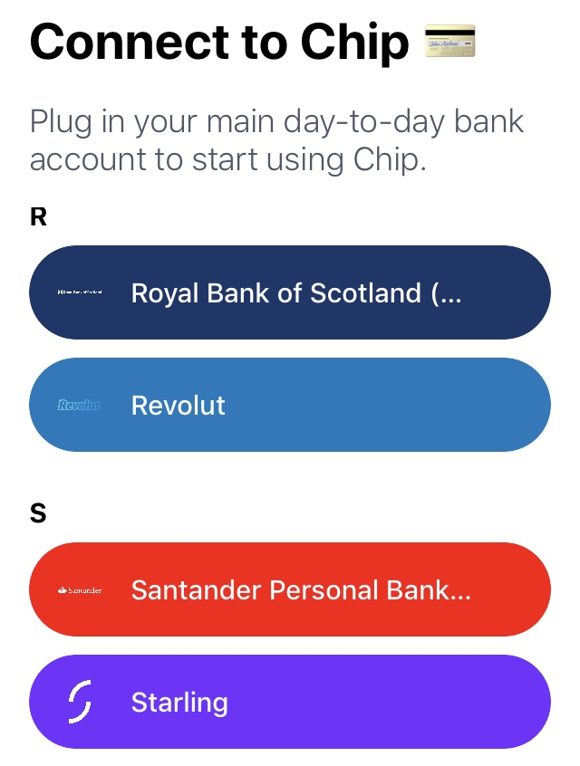 Connect Chip to Your Bank