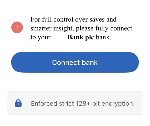 Fully connect to bank account