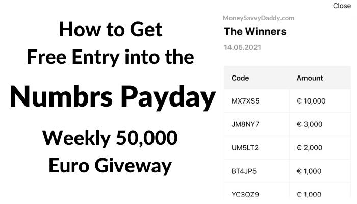 Numbrs Payday Giveaway Draw