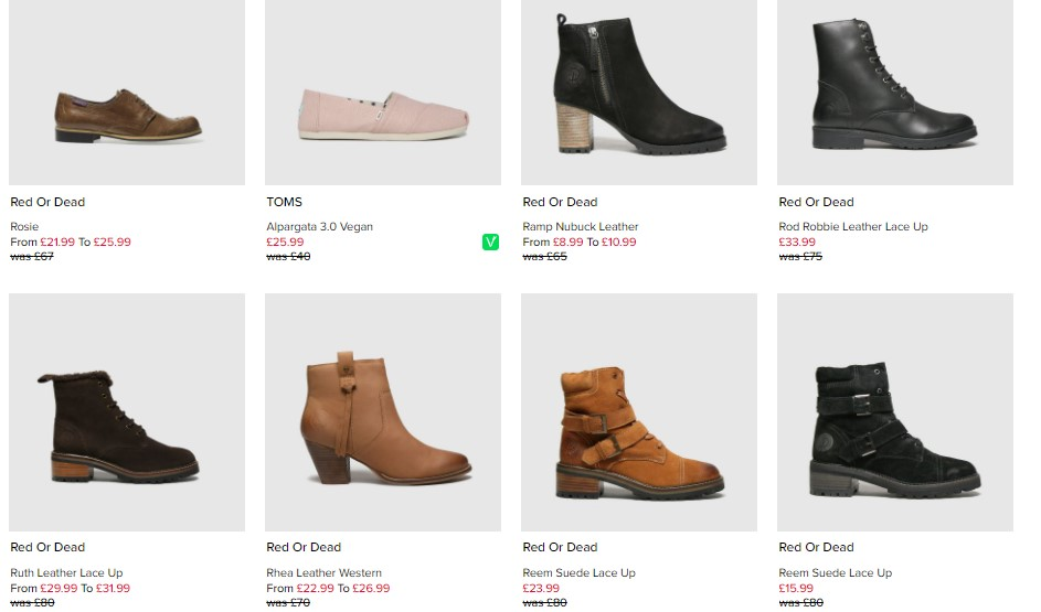 Schuh Imperfects Womens Examples