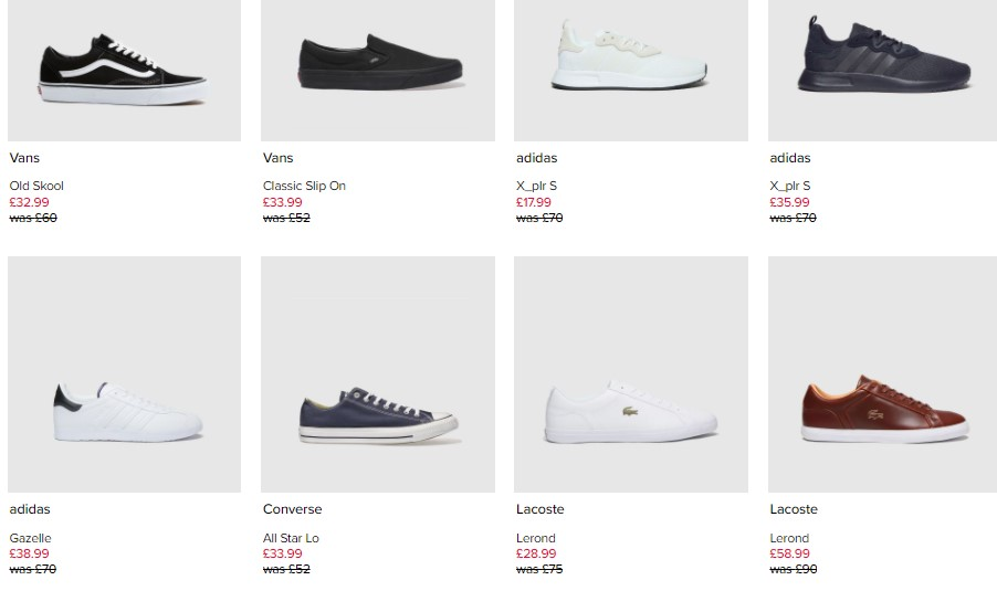 Schuh Imperfects Ex Display Trainers